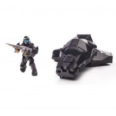 Megabloks Halo : Capsule d'atterrissage avec figurine métallique : ODST furtif