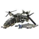 Véhicule et figurines à assembler : Halo : Unsc Falcon with landing pad