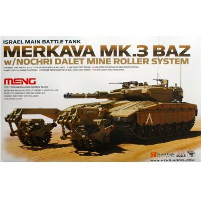 Maquette Char : Char de bataille israélien Merkava Mk.3 BAZ - Meng-TS005
