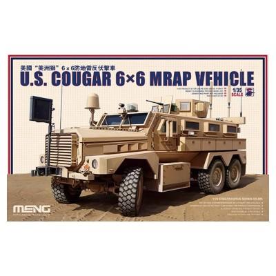 Maquette Véhicule Militaire : US Cougar 6x6 Mrap - Meng-SS005