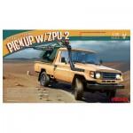 Maquette Voiture : Pick-Up Toyota Hilux avec Canon AA ZU-23-2