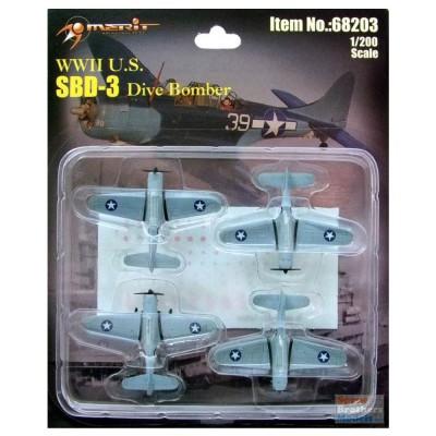 Maquette Avions Militaires : SBD-3 Dauntless - Merit-68203