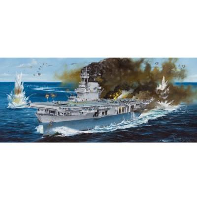 Maquette Bateau Militaire : Porte-avions USS Yorktown CV-5 1942 - Merit-65301