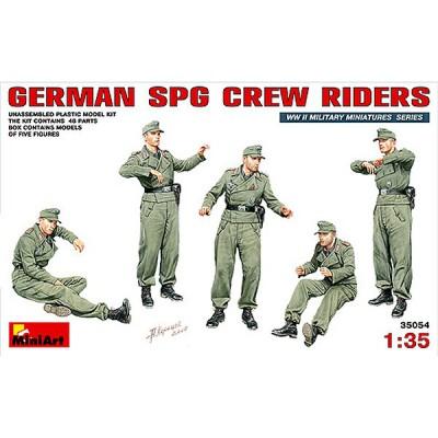 Figurines 2ème Guerre Mondiale : Artilleurs allemands pour canon automoteur - MiniArt-35054