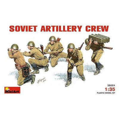 Figurines 2ème Guerre Mondiale : Artilleurs soviétiques 1941-1943 - MiniArt-35031