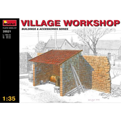 Maquette Ruines de guerre: Atelier de village - MiniArt-35521