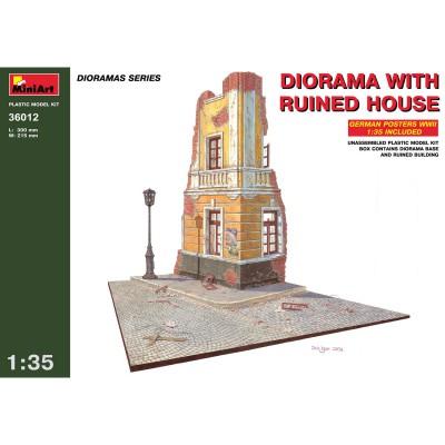 Diorama 1/35: Maison de ville en ruine 1939-1945 - MiniArt-36012