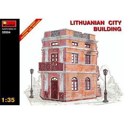 Maquette Ruines de guerre: Bâtiment de ville lituanien - MiniArt-35504