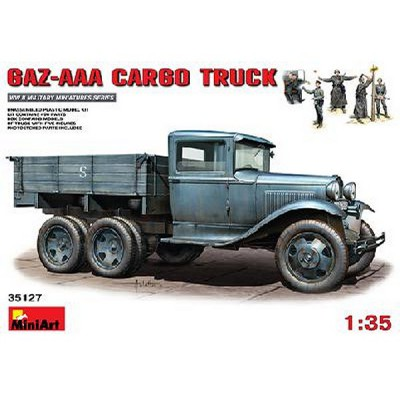 Maquette Camion soviétique GAZ-AAA CARGO avec 5 figurines - MiniArt-35127