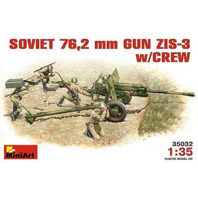 Maquette canon soviétique ZIS-3 76.2 mm avec figurines artilleurs - MiniArt-35033