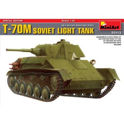 Maquette Char léger soviétique T-70M : Edition spéciale - MiniArt-35113