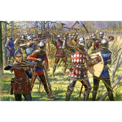 Figurines médiévales: Chevaliers et archers Bourguignons XVème siècle - MiniArt-72001
