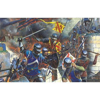 Figurines médiévales: Chevaliers français et troupes d'assaut de forteresse XVème siècle - MiniArt-72002