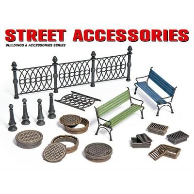 Accessoires de décor de guerre 1/35: Accessoires de rue - MiniArt-35530