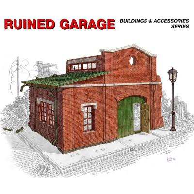 Maquette Ruines de guerre: Garage en ruine 1944 - MiniArt-35511