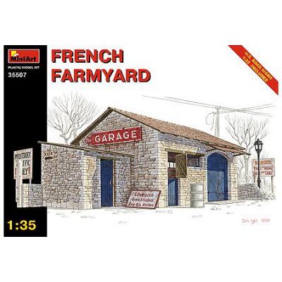 Maquette Ruines de guerre: Grange de ferme française 1944 - MiniArt-35507