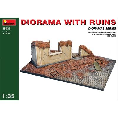 Diorama 1/35 avec ruines - MiniArt-36039