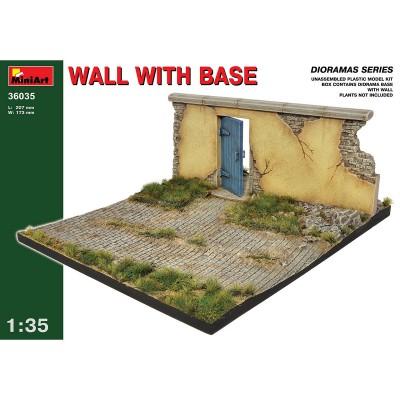 Diorama 1/35 : Mur en ruine avec base - MiniArt-36035