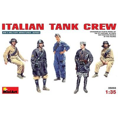 Figurines 2ème Guerre Mondiale : Equipage de blindé italien 1939-1943 - MiniArt-3593