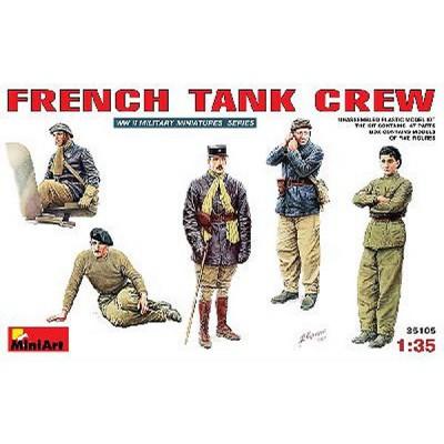Figurines 2ème Guerre Mondiale : Equipage de char français 1940 - MiniArt-35105
