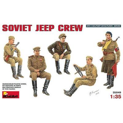 Figurines 2ème Guerre Mondiale : Equipage de Jeep soviétique 1944 - MiniArt-35049