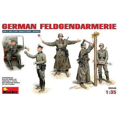 Figurines 2ème Guerre Mondiale : Feldgendarmerie allemande 1943-1945 - MiniArt-35046
