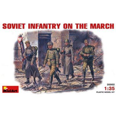 Figurines 2ème Guerre Mondiale : Infanterie Soviétique en marche 1943 - 1945 - MiniArt-35002
