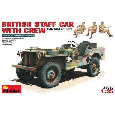 Maquette Jeep Etat Major et équipage britannique - MiniArt-35050