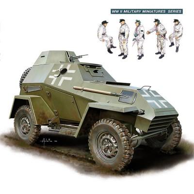 Maquette Panzerspahwagen BA-64 avec équipage - MiniArt-35110
