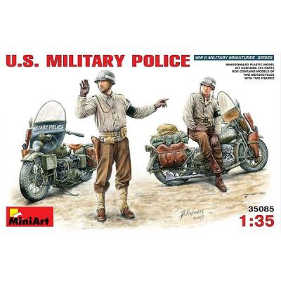 Figurines 2ème Guerre Mondiale : Police militaire américaine  - MiniArt-35085
