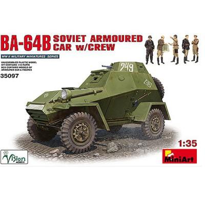 Maquette Véhicule blindé soviétique BA-64B - MiniArt-35097