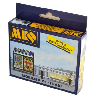 Modélisme ferroviaire HO : Mobilier de quais - MKD-MK522