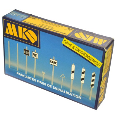 Modélisme ferroviaire HO : Pancartes fixes de signalisation - MKD-MK592