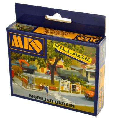 Modélisme HO : Le village français : Mobilier urbain - MKD-MK676