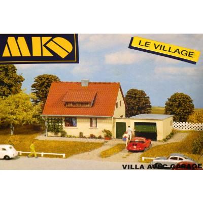 Modélisme HO : Le village français : Villa avec garage - MKD-MK627