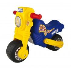 Porteur moto cross bleu et jaune