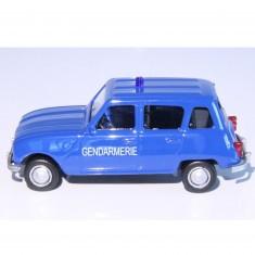 Modèle réduit de voiture Vintage : Gendarmerie Renault 4L