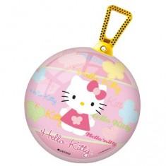 Ballon sauteur Hello Kitty avec poignée jaune : 50 cm