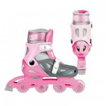 Rollers en ligne ajustables pointure 34/37 : Hello Kitty