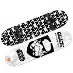 Skateboard avec roues LED : Star Wars