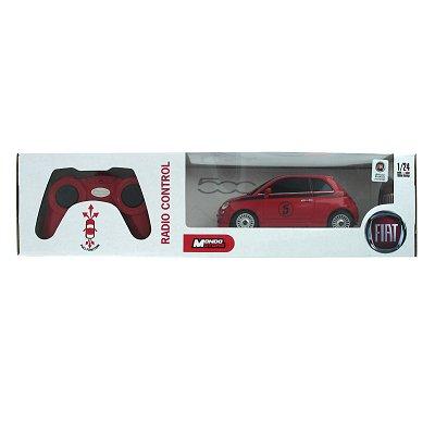 Voiture radiocommandée Nouvelle Fiat 500 R/C : Rouge - Mondo-63001R