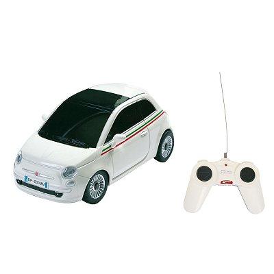 Voiture radiocommandée Nouvelle Fiat 500 R/C : Blanc - Mondo-63001B