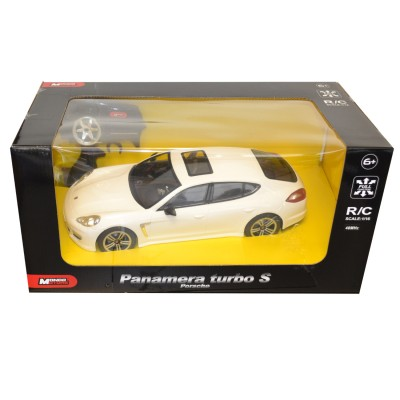 Voiture radiocommandée : Porsche Panamera turbo S blanche - Mondo-63351-Blanc