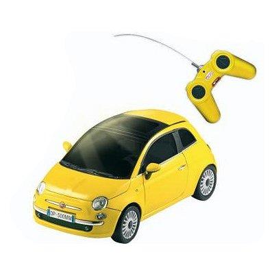 Voiture radiocommandée Nouvelle Fiat 500 R/C : Jaune - Mondo-63001J