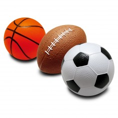Ballons en mousse : Foot, rugby, basket