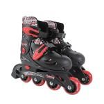 Rollers en ligne ajustables pointure 33/36 : Noir