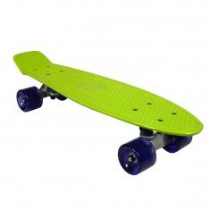 Skate Vintage vert roues violettes
