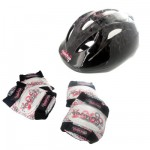 Set de 3 protections Junior S : Noir