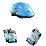 Set de 3 protections Junior XS : Bleu