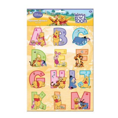 Stickers alphabet winnie l 39 ourson magasin de jouets pour enfants - Lettre alphabet winnie l ourson ...